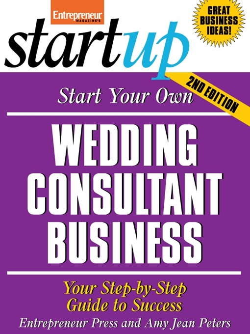 Start Your Own Wedding Consultant Business (eBook)
