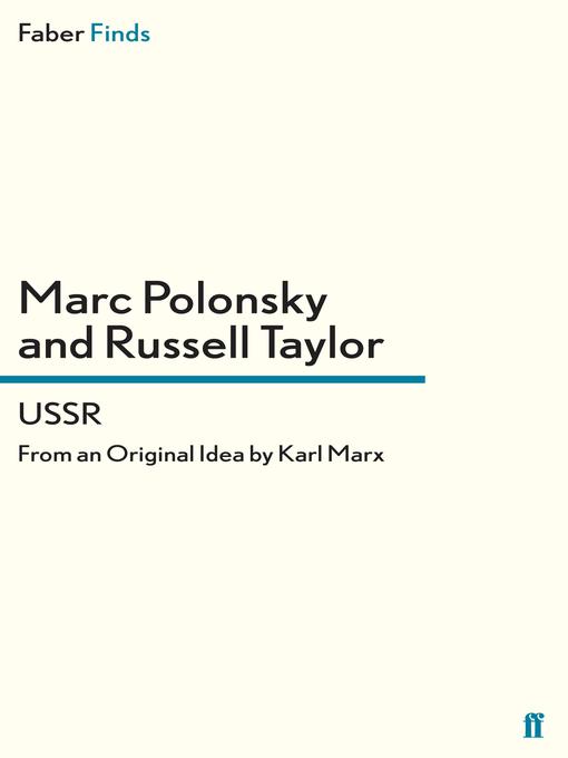 USSR: From an Original Idea by Karl Marx (eBook)