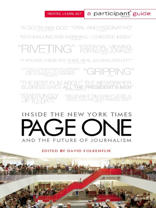 Page One (eBook): Inside The New York Times and the Future of Journalism