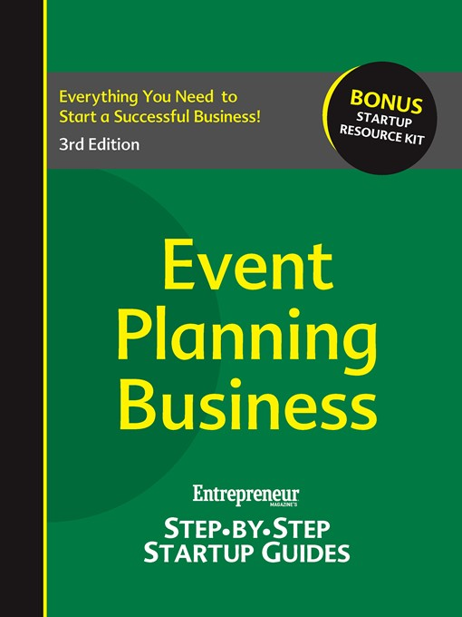 Event Planning Business (eBook): Entrepreneur's Step by Step Startup Guide