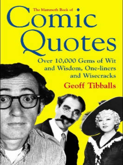 The Mammoth Book of Comic Quotes (eBook)