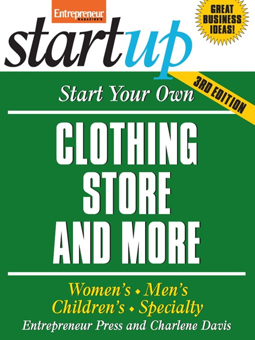Start Your Own Clothing Store and More - Entrepreneur Magazine's StartUp (eBook)