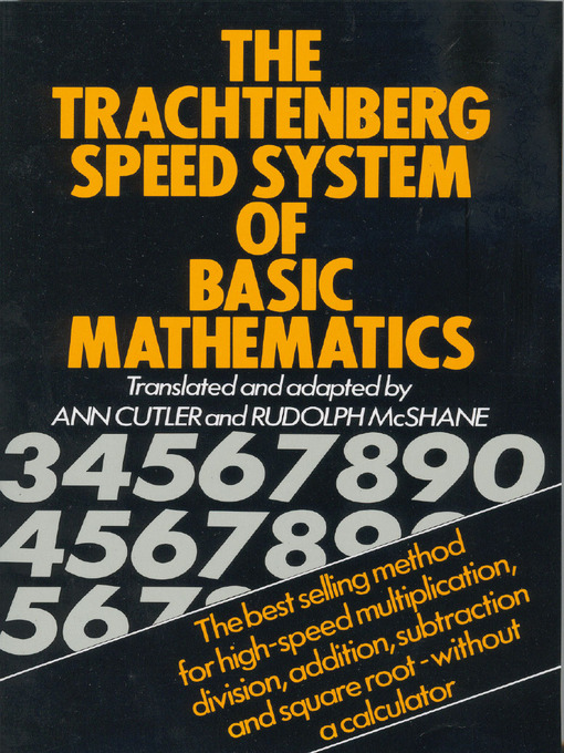 trachtenberg system of speed mathematics pdf download