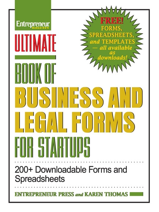 Ultimate Book of Business and Legal Forms for Startups (eBook): 200+ Downloadable Forms and Spreadsheets
