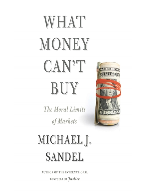 (What Money can't buy) Book Jacket