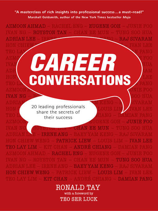 Career Conversations 20 Leading Professionals Share the Secrets to Their Success