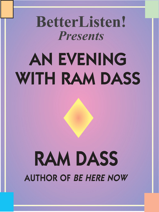 An Evening with Ram Dass: A Benefit for the Seva Foundation (MP3)