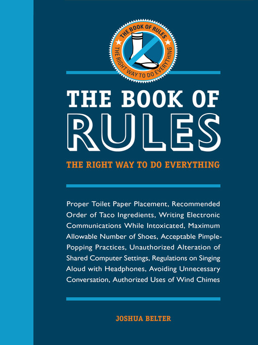 The Book of Rules (eBook): The Right Way to Do Everything