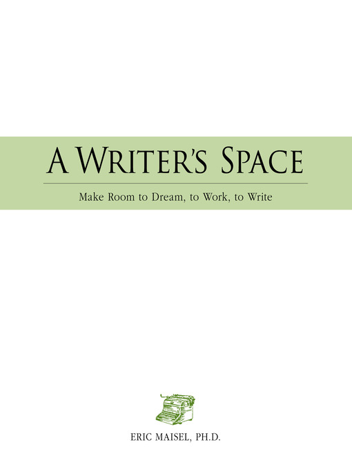 A Writer's Space (eBook): Make Room to Dream, to Work, to Write