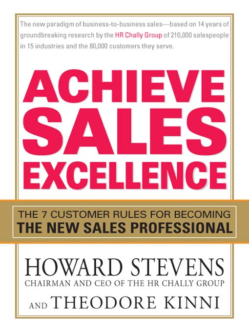 Achieve Sales Excellence: The 7 Customer Rules For Becoming The New Sales Professional (eBook)