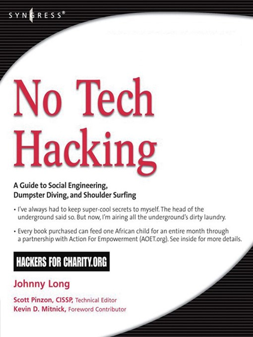 No Tech Hacking: A Guide to Social Engineering, Dumpster Diving, and Shoulder Surfing (eBook)