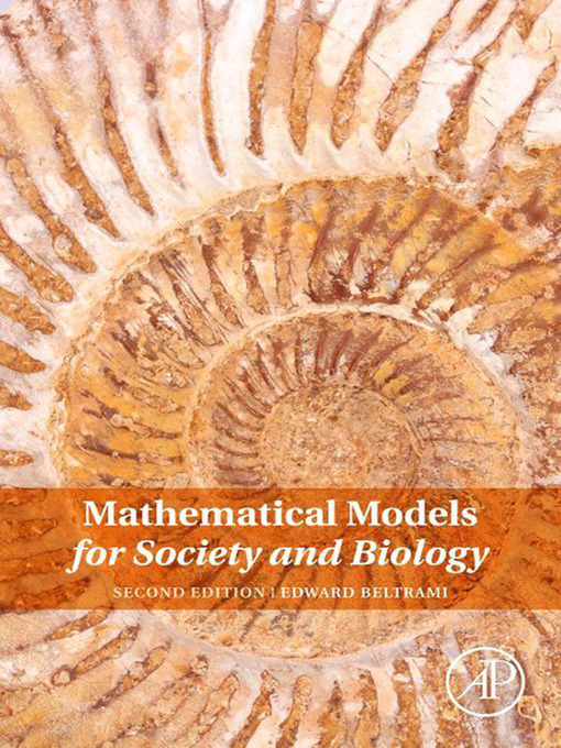 Mathematical Models for Society and Biology (eBook)