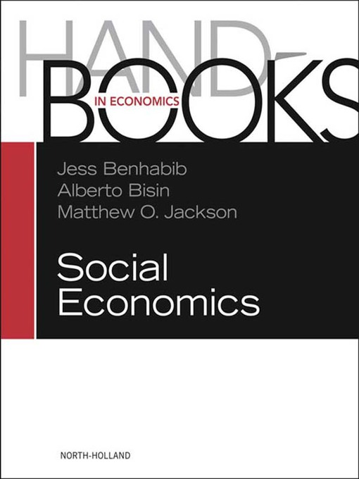Handbook of Social Economics SET (eBook): 1A, 1B: 1A, 1B