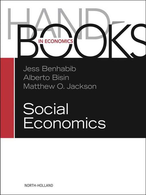 Handbook of Social Economics SET: 1A, 1B: 1A, 1B - Handbook of Social Economics (eBook)