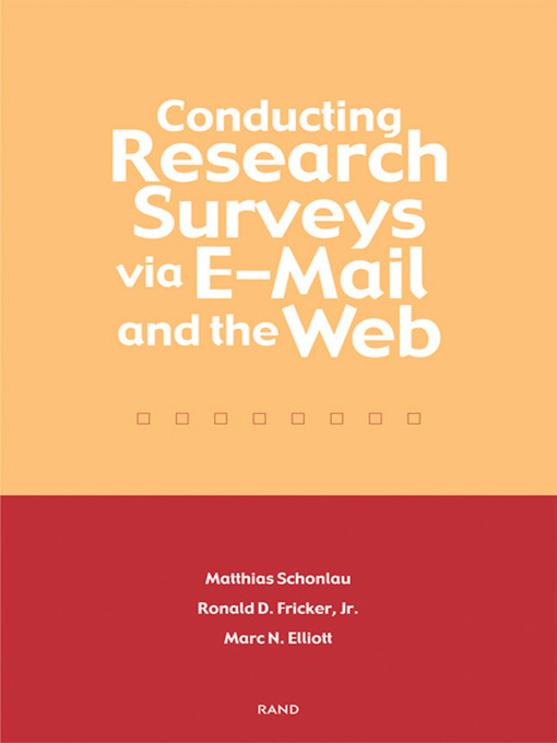 Conducting Research Surveys via E-mail and the Web (eBook)