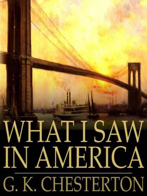 What I Saw in America (eBook)