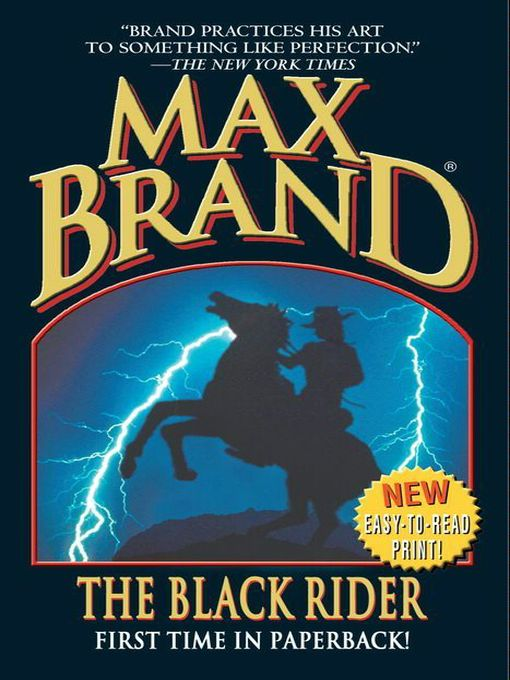 Click this cover for a(n) eBook sample of The Black Rider.
