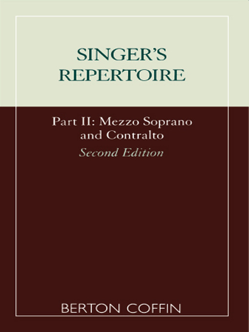 The Singer's Repertoire, Part II (eBook)