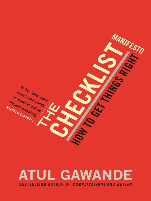The Checklist Manifesto (eBook): How to Get Things Right
