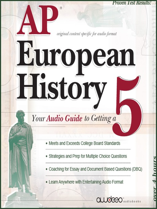 AP® European History 2009 Edition (MP3): Your Audio Guide to Getting a 5