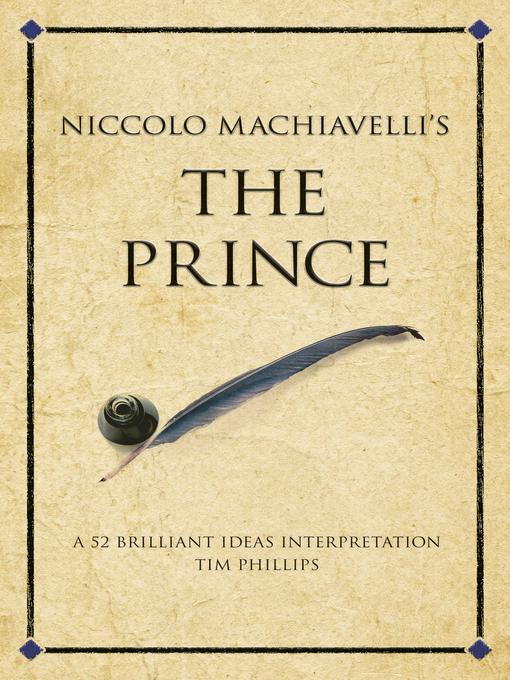 Niccolo Machiavelli S The Prince Ebook A 52 Brilliant