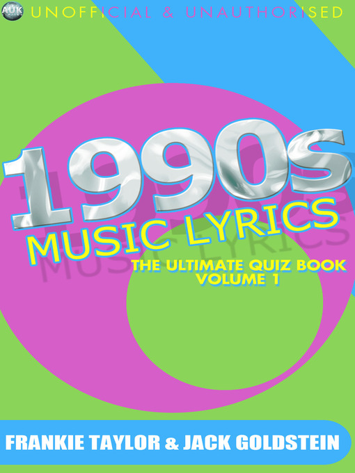 1990s Music Lyrics: The Ultimate Quiz Book, Volume 1 (eBook)