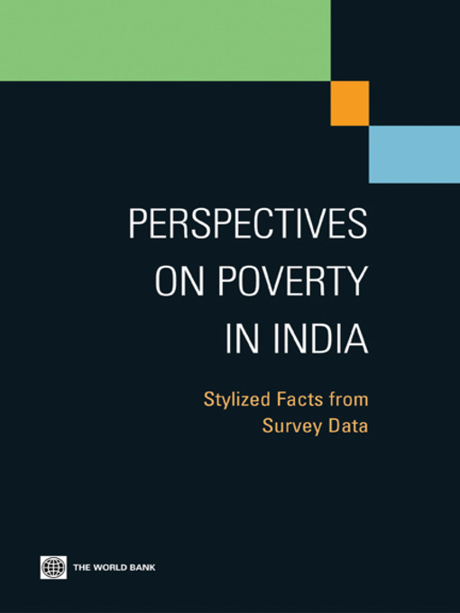 Perspectives on Poverty in India (eBook): Stylized Facts from Survey Data