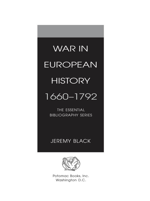 War in European History, 1660-1792 (eBook): The Essential Bibliography