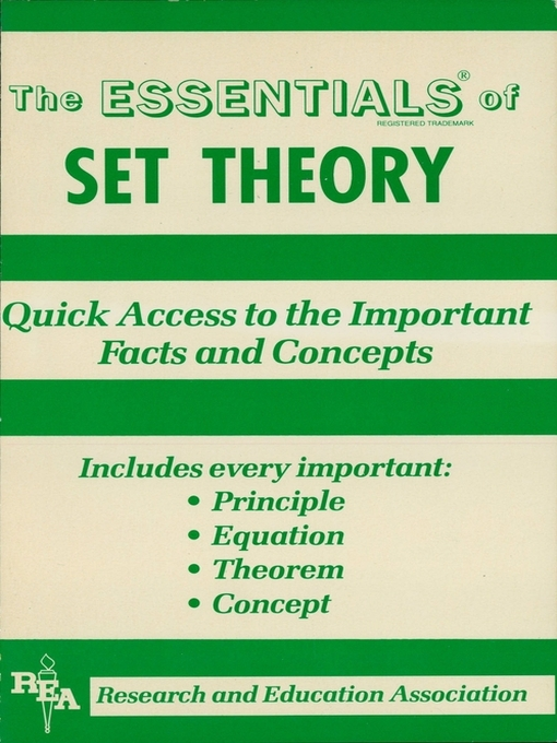 Set Theory Essentials (eBook)