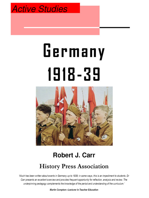 Weimar and Nazi Germany 1918-39 (eBook): Active Studies
