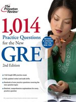 Click here to view eBook details for 1,014 Practice Questions for the New GRE by Princeton Review