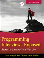 Click here to view eBook details for Programming Interviews Exposed by John Mongan
