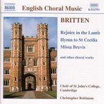 BRITTEN: Rejoice in the Lamb / Hymn to St. Cecilia / Missa Brevis, Op. 63