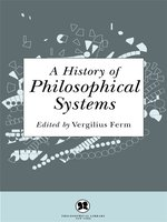 A History of Philosophical Systems