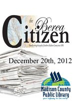 The Berea Citizen 2012 12/20