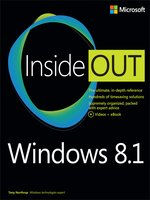 Click here to view eBook details for Windows 8.1 Inside Out by Tony Northrup