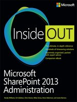 Click here to view eBook details for Microsoft SharePoint 2013 Administration by Randy  Williams