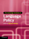 The Cambridge Handbook of Language Policy (eBook)