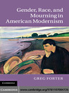 Gender, Race, and Mourning in American Modernism (eBook)