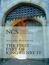 The First Part of King Henry IV (eBook)