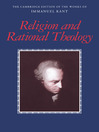 Religion and Rational Theology (eBook)