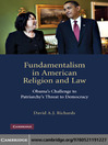 Fundamentalism in American Religion and Law (eBook): Obama's Challenge to Patriarchy's Threat to Democracy