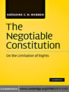 The Negotiable Constitution (eBook): On the Limitation of Rights