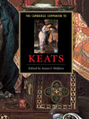 The Cambridge Companion to Keats (eBook)