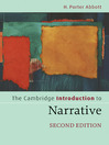 The Cambridge Introduction to Narrative (eBook)