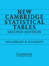New Cambridge Statistical Tables (eBook)