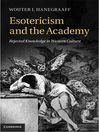 Esotericism and the Academy (eBook)