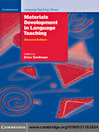 Materials Development in Language Teaching (eBook)