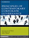 Principles of Contemporary Corporate Governance (eBook)