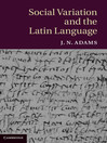 Social Variation and the Latin Language (eBook)